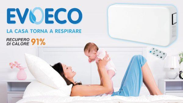 Unità VMC con recupero di calore EVOECO