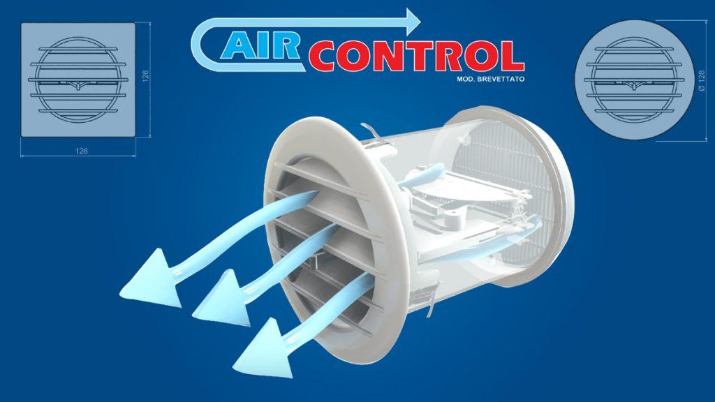 Griglia con valvola a controllo termostatico AIRCONTROL