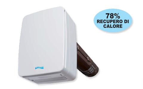 Ventilatore con recuperatore v eco100 first corporation for Ventilatore con nebulizzatore per interni