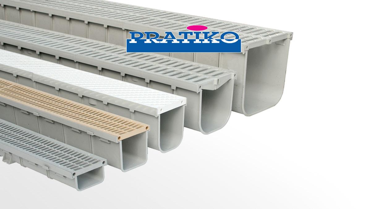 Canali Grigliati Modulari PRATIKO in PVC