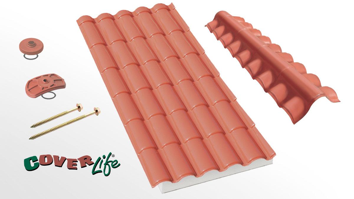 Lastra di copertura coibentata - Coppo XL Isolife