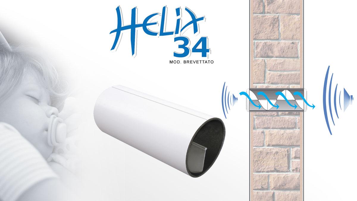 Riduttore acustico per fori di ventilazione Helix34