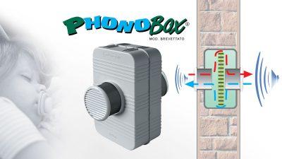 Silenziatore per fori di ventilazione Phonobox