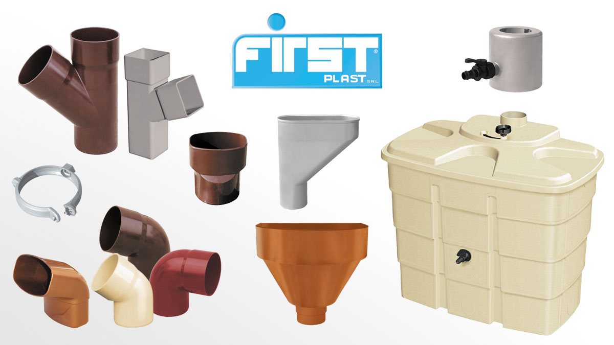 Tubi pluviali in pvc first corporation for Tubi plumbing di plastica
